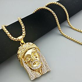 Men's Necklace Statement Unique Design Trendy Fashion Titanium Steel Gold 65 cm Necklace Jewelry 1pc For Party Evening Sport Street
