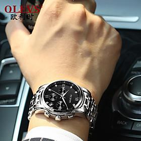 Men's Dress Watch Quartz Modern Style Stylish Titanium Alloy Silver 30 m Calendar / date / day Noctilucent Casual Watch Analog Casual Fashion - Black / Silver