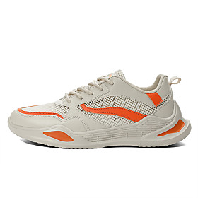 Men's Fall Sporty / Casual Daily Outdoor Trainers / Athletic Shoes Running Shoes / Walking Shoes Mesh Breathable Non-slipping Shock Absorbing White / Black / B