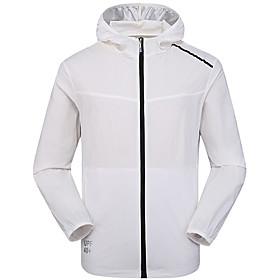 Men's Full Zip Track Jacket Hoodie Jacket Running Jacket Hooded Running Walking Fitness UV Sun Protection UPF50 Sportswear Jacket Top Long Sleeve Activewear Mi