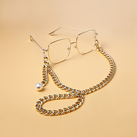 Alloy Eyewear Removable For Holiday Street Golden Silver 1 Piece / Women's