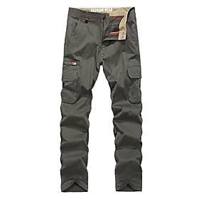 Men's Hiking Pants Hiking Cargo Pants Summer Outdoor Breathable Quick Dry Soft Sweat-wicking Cotton Pants / Trousers Bottoms Running Camping / Hiking Hunting A