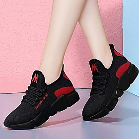 Women's Trainers / Athletic Shoes Spring  Summer Flat Heel Round Toe Daily Mesh Black / Purple / Red