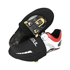Adults' Cycling Shoes Cover / Overshoes Thermal / Warm Breathable Road Cycling Black Cycling Shoes