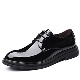 Men's Fall Casual / British Daily Party  Evening Oxfords Leather Breathable Non-slipping Wear Proof Black