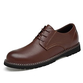 Men's Summer Classic Daily Oxfords PU Black / Brown