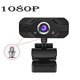 HD 1080P Web Camera Built-in Dual Mics Smart Webcam USB Pro Stream Camera for Desktop Laptops PC Game Cam For OS Windows 10/8