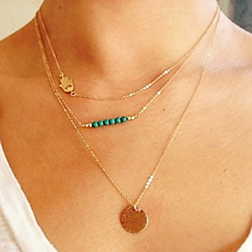 Women's Pendant Necklace Boho Gold Plated Gold 35 cm Necklace Jewelry 1pc For Daily