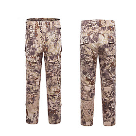 Men's Hiking Pants Hiking Cargo Pants Tactical Pants Camo Summer Outdoor Breathable Quick Dry Wear Resistance Pants / Trousers Bottoms Hunting Hiking Climbing