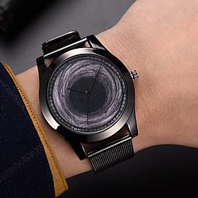Men's Dress Watch Quartz Formal Style Modern Style Black Casual Watch Cool Analog Casual Fashion - Black