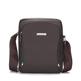 Men's Bags Nylon Crossbody Bag Zipper Solid Color for Daily / Office  Career Black / Blue / Gray / Coffee / Fall  Winter