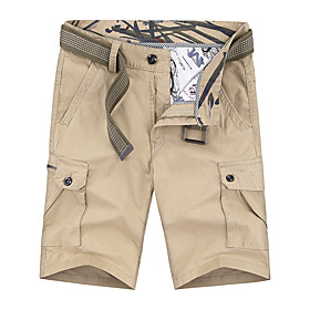 Men's Hiking Shorts Hiking Cargo Shorts Summer Outdoor Breathable Quick Dry Sweat-wicking Comfortable Cotton Shorts Bottoms Hunting Fishing Climbing Red Army G