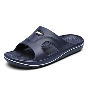 Men's Summer Casual Daily Slippers  Flip-Flops PU Non-slipping Black / Blue / Brown