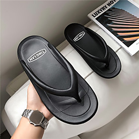 Men's Summer Casual / Beach Daily Home Slippers  Flip-Flops Water Shoes / Upstream Shoes Rubber Breathable Non-slipping Wear Proof Black / Gray