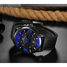 Men's Dress Watch Quartz Stylish Leather Brown 30 m Casual Watch Analog Casual Fashion - Red Blue White One Year Battery Life