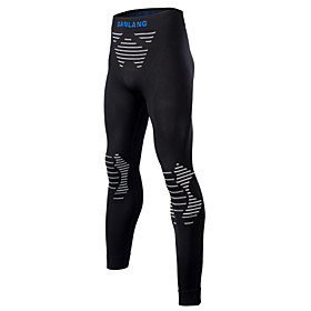 Men's Women's Compression Pants Compression Tights Bottoms Lightweight Breathable Quick Dry Soft Sweat-wicking Dark Gray Winter Road Bike Mountain Bike MTB Bas