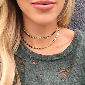 Women's Torque Boho Gold Plated Gold 30 cm Necklace Jewelry 1pc For Daily