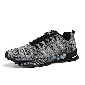 Men's Summer Sporty Athletic Trainers / Athletic Shoes Running Shoes Mesh / Tissage Volant Non-slipping Black / Red / Blue
