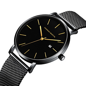 Men's Steel Band Watches Japanese Quartz Stylish Stainless Steel Black / Blue / Silver 30 m Water Resistant / Waterproof Calendar / date / day Day Date Analog