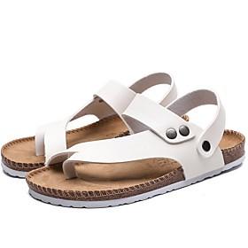 Men's Summer Outdoor Sandals PU Non-slipping White / Black / Silver