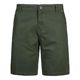 Men's Basic Slim Cotton Chinos Shorts Tactical Cargo Pants Solid Colored Patchwork Black Army Green Khaki US34 / UK34 / EU42 US36 / UK36 / EU44 US40 / UK40 / E
