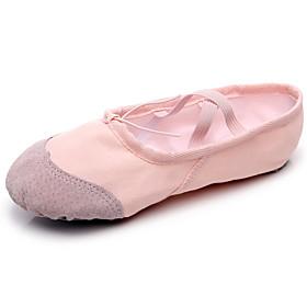 Women's Ballet Shoes Flat Flat Heel Canvas Black / Red / Pink / Performance / Practice
