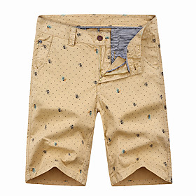 Men's Hiking Shorts Hiking Cargo Shorts Summer Outdoor Breathable Quick Dry Sweat-wicking Comfortable Cotton Shorts Bottoms Hunting Fishing Climbing Yellow Arm
