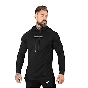 Men's Cotton Hoodie Sweatshirt Hoodie Winter Pullover Active Training Fitness Jogging Breathable Moisture Wicking Soft Sportswear Top Long Sleeve Activewear Mi
