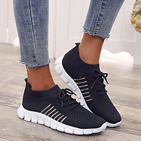 Women's Trainers / Athletic Shoes Spring  Summer Flat Heel Round Toe Daily Mesh Black / Pink / Beige