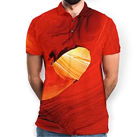 Men's Graphic Polo Basic Elegant Daily Going out Orange