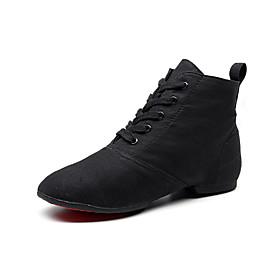 Men's Women's Dance Shoes Ballet Shoes / Jazz Shoes / Dance Sneakers Flat Sneaker Flat Heel Black / Red / Brown / Performance / Ballroom Shoes / Practice