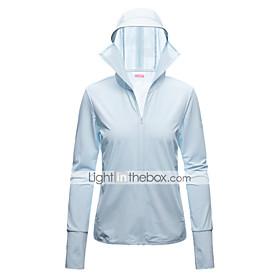 Women's Full Zip Running Track Jacket Hoodie Jacket Windbreaker Long Sleeve Summer Elastane UV Sun Protection UPF50 Fitness Running Walking Jogging Sportswear