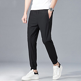 Men's Hiking Pants Summer Outdoor Breathable Quick Dry Sweat-wicking Comfortable Pants / Trousers Bottoms Running Camping / Hiking Hunting Dark Grey Black S M