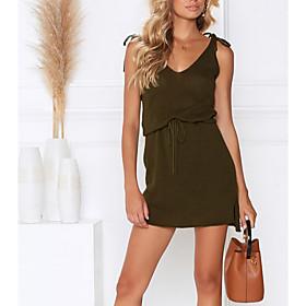 Summer Thin Strap Knitted Mini Dress