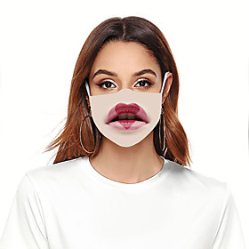 Mask Women's Polyester One-Size Beige 1pc / pack Adults Anti-UV Daily Basic All Seasons