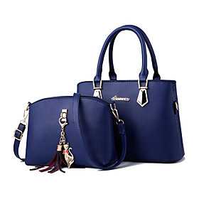 Women's Zipper PU Bag Set Bag Sets 2 Pieces Purse Set Wine / Black / Blushing Pink