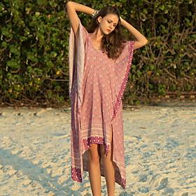 Women's Asymmetrical Shirt Dress - Short Sleeves Geometric Summer V Neck Casual Loose 2020 Purple M L XL XXL