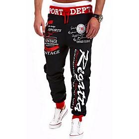 Men's Basic Loose Chinos Pants Print Black Red Light gray US34 / UK34 / EU42 US36 / UK36 / EU44 US38 / UK38 / EU46