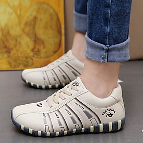 Women's Trainers / Athletic Shoes Spring / Summer Flat Heel Round Toe Daily PU White / Black / Beige