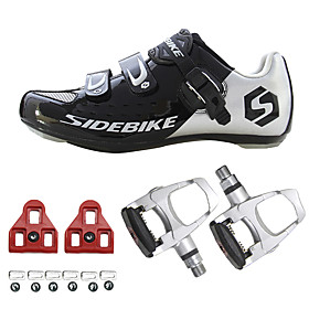 SIDEBIKE Adults' Sneakers Bike Shoes Road Bike Shoes Cushioning Ultra Light (UL) Cycling / Bike Men's Women's Unisex Cycling Shoes