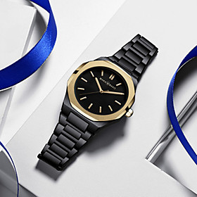 Men's Steel Band Watches Japanese Quartz Sporty Stainless Steel Black / Silver / Gold 30 m Water Resistant / Waterproof New Design Analog Casual - BlackGloden