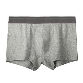 Men's Sports Underwear Boxer Brief Trunks 1pc Cotton Sports Shorts Underwear Shorts Bottoms Running Walking Jogging Training Breathable Soft Fashion White Blac