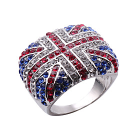 Men's Band Ring 1pc Silver Alloy Round Punk Street Jewelry Mixed Color Wearable Environmental