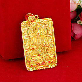 Men's Pendant Necklace Buddha Asian Unique Design Ethnic Copper Gold 0 cm Necklace Jewelry For