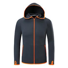 Men's Hiking Windbreaker Winter Outdoor Solid Color Thermal Warm Waterproof Windproof Sunscreen Top Fishing Climbing Running White / Blue / Grey / Patchwork /