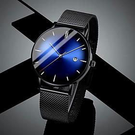 Men's Steel Band Watches Quartz Modern Style Minimalist Calendar / date / day Analog RedGolden Black Green / One Year / Stainless Steel
