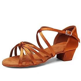Women's Modern Shoes Heel Thick Heel PU Black / Brown / Performance