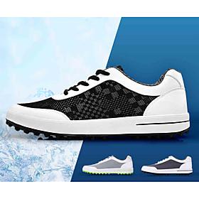 Men's Golf Shoes Lightweight Breathable Anti-Slip Sweat-wicking Golf Outdoor Exercise Spring Summer GrayWhite Black Dark Gray