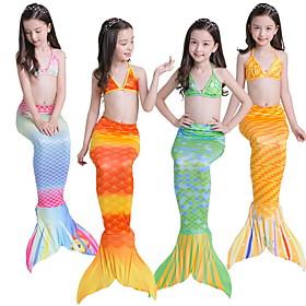 Kids Girls' Rainbow Swimwear Yellow