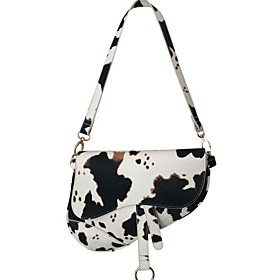 Women's Bags PU Leather Crossbody Bag / Saddle Bag Zipper Chain for Daily White